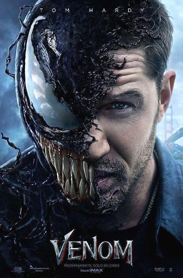 poster oficial de venom 2018 la película