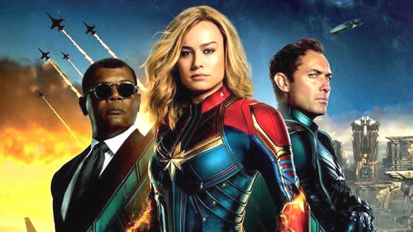 película de superhéroes, capitana marvel, estrenos 2019