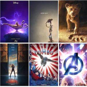 peliculas disney estreno 2019, marvel y pixar