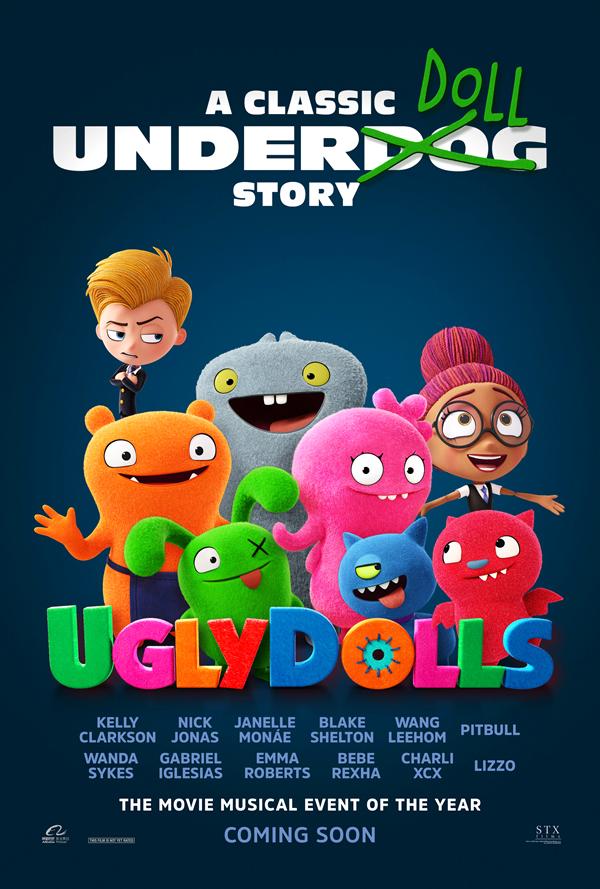 poster de extraordinariamente feos, uglydolls 2019