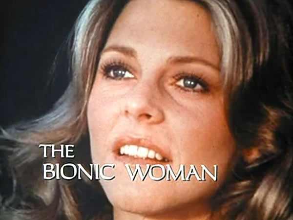 Lindsay Wagner como la mujer bionica, serie retro vintage , estreno 1976
