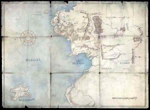 Mapa de la serie de El Señor de los Anillos de Amazon