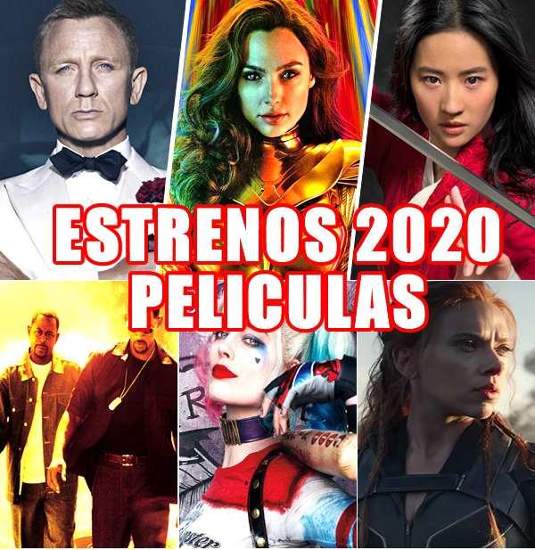 peliculas estreno 2020 en los cines de españa, latino y el mundo