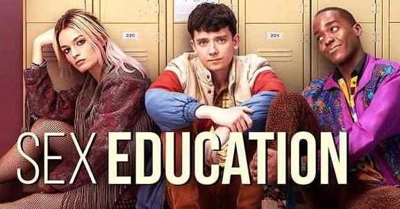 sex education, serie de netflix con gillian anderson, asa butterfield y emma mackey