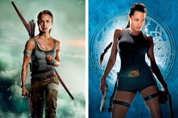 ver las películas de lara croft tomb raider en orden, Angelina Jolie, Alicia Vikander
