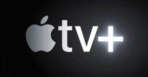 imagen del logo de apple tv+, la plataforma de películas en español