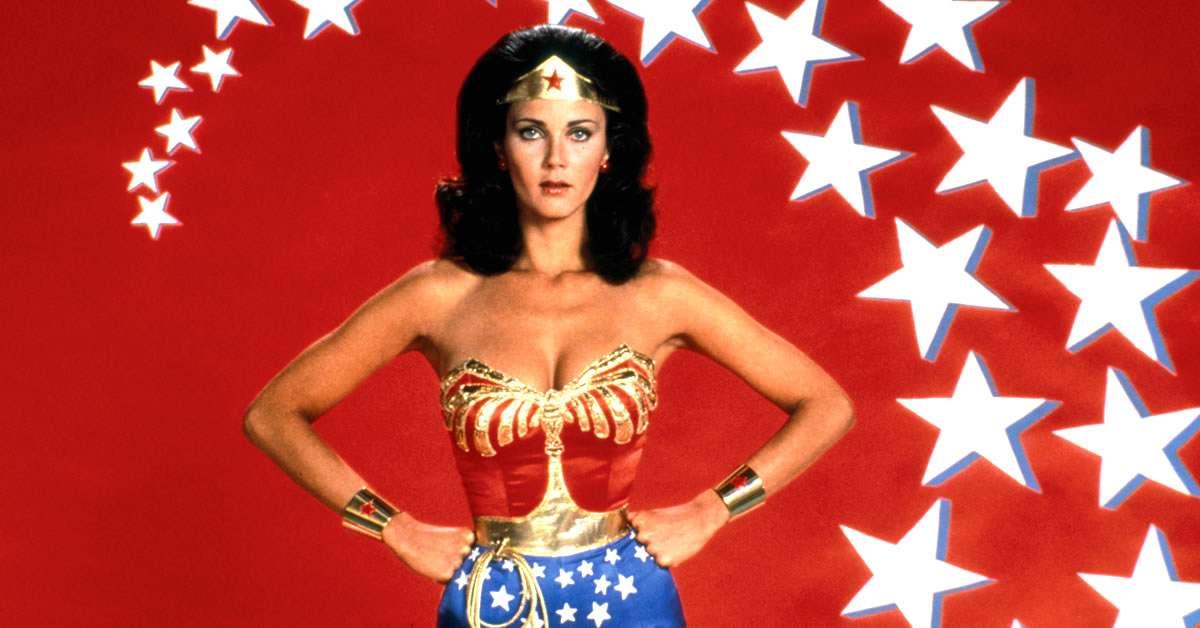 lynda carter como la mujer maravilla original de la serie de televisión de 1975