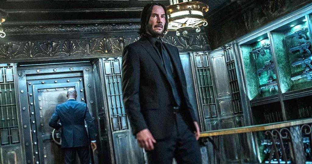 foto de keanu reeves como john wick en la película de acción