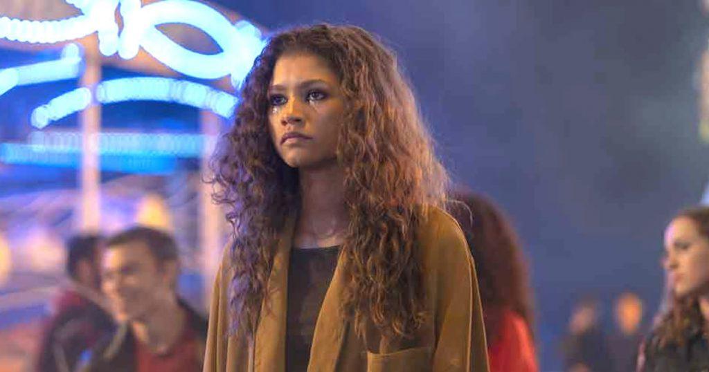 Foto de Zendaya  en la serie Euphoria para ver en HBO